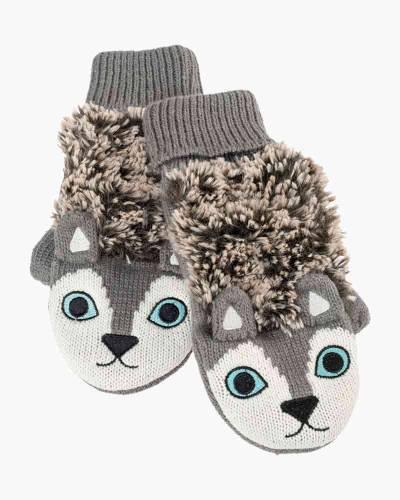 Grey Husky Critter Mittens