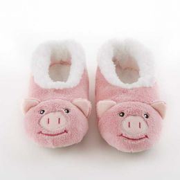 Snoozies Pig Coral Fleece Snoozies