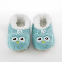 Snoozies Owl Coral Fleece Snoozies