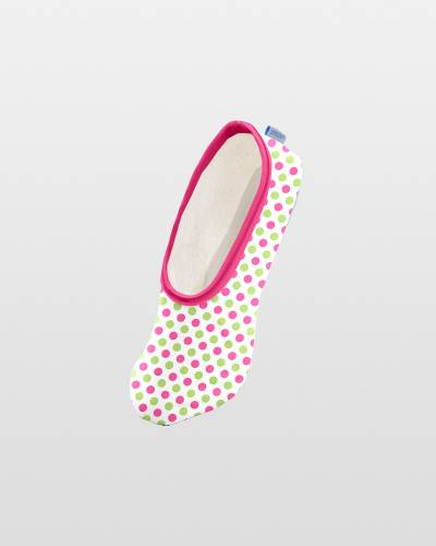 Preppie Dots Mini Skinnies Foot Coverings