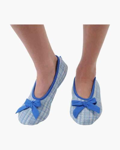Blue Tweed Ballet Skinnies Foot Coverings