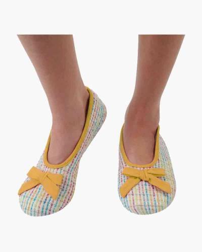 Yellow Tweed Ballet Skinnies Foot Coverings