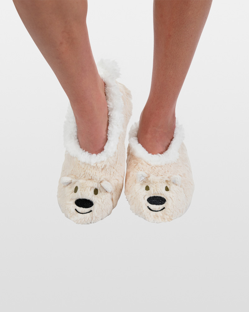 Snoozies Women's Polar Bear Animal Snoozies