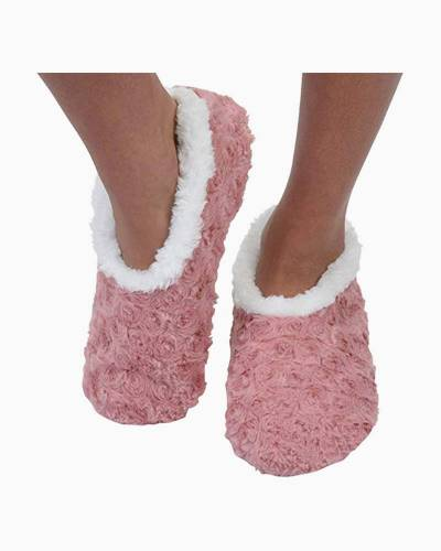Mauve Bed of Roses Snoozies Slippers