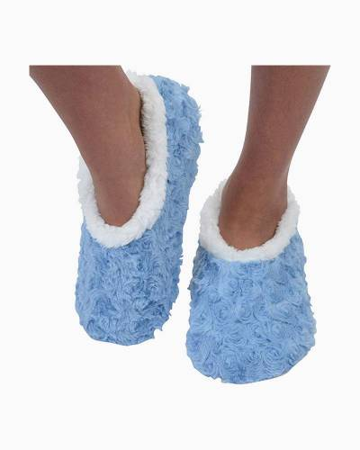 Baby Blue Bed of Roses Snoozies Slippers