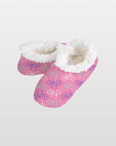 French Bicycles Snoozies Slippers