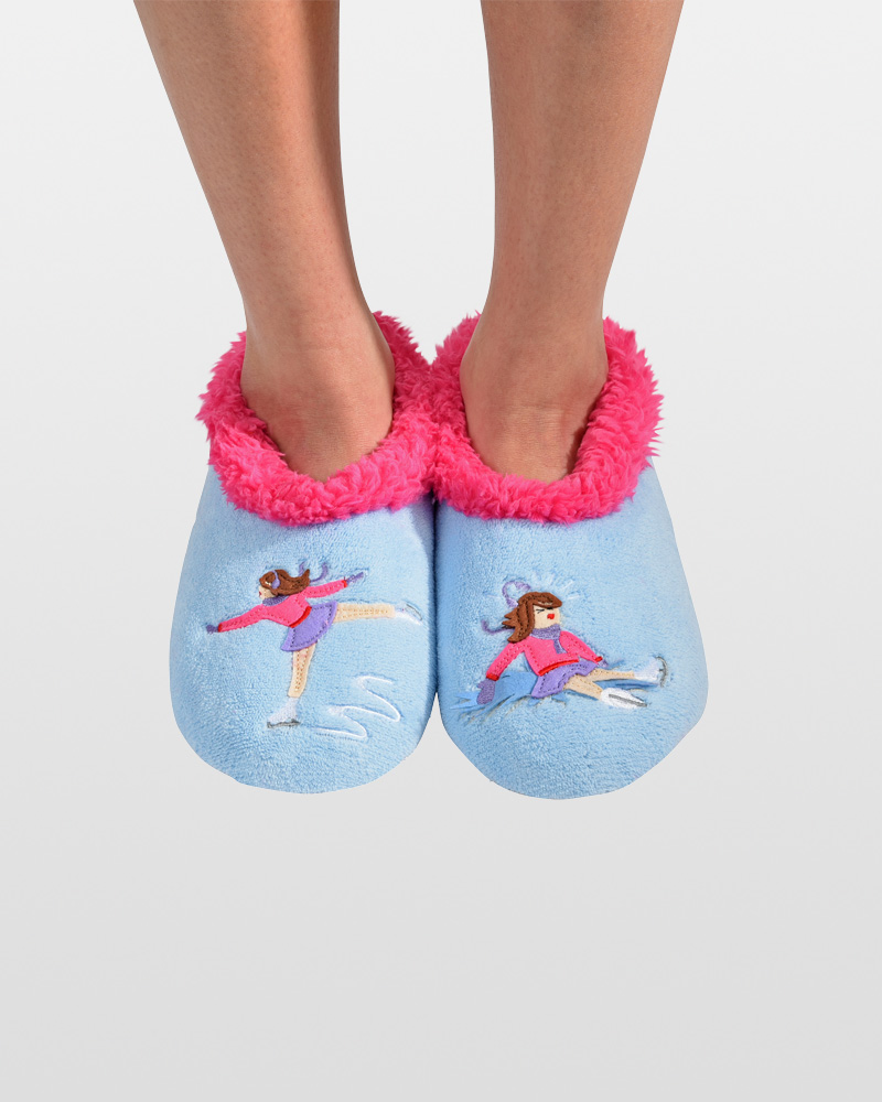Snoozies Ice Skater/Oops! Snoozies Slippers