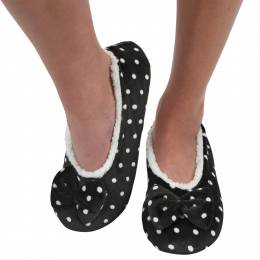 Snoozies Women's Touch Me Snoozies in Polka Dots