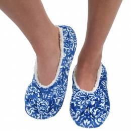 Snoozies Women's Touch Me Snoozies in Blue Floral