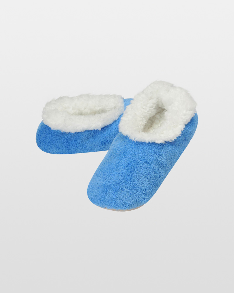 Snoozies Women's Premium Plush Snoozies in Blue
