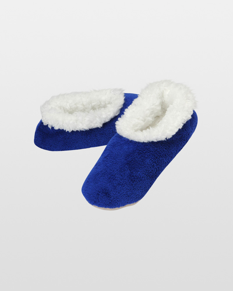Snoozies Women's Premium Plush Snoozies in Royal Blue