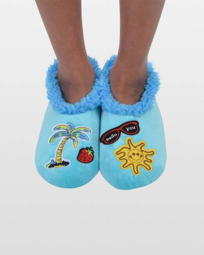 Women's Beach Patches Snoozies in Blue
