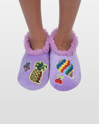 Women's Cool Patches Snoozies in Purple
