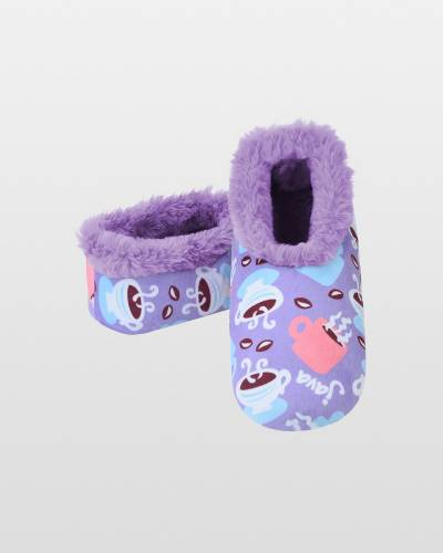 Women's Furry Nice Snoozies in Coffee Cup