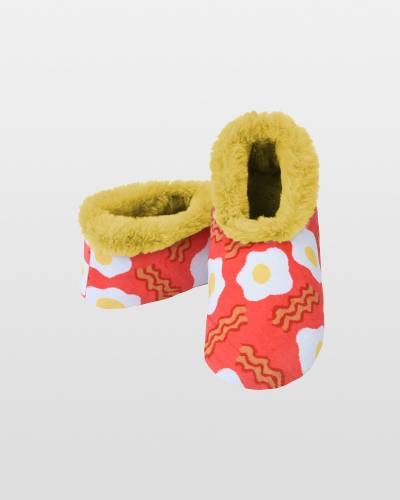 Women's Furry Nice Snoozies in Bacon and Eggs