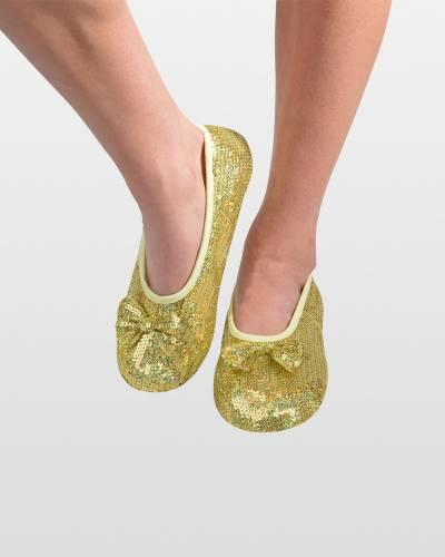Gold Sequin Bling Ballet Women's Skinnies Foot Coverings