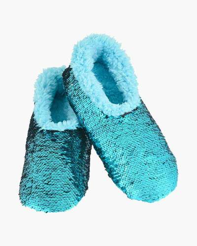 Turquoise Magic Sequin Women's Bling Snoozies