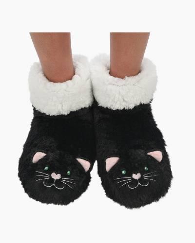Black Cat Women's Furry Animals Booties
