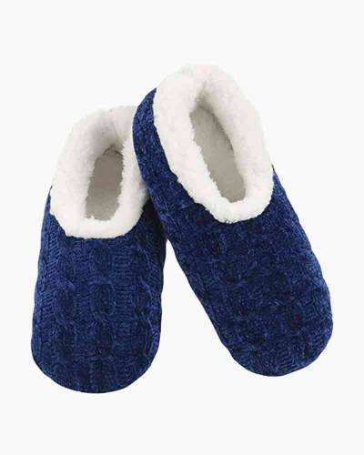 Women's Jewel Tone Chenille Snoozies in Blue