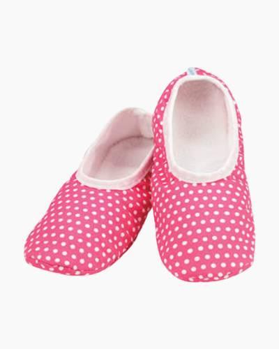 Women's Pink Polka Dot Skinnies Foot Coverings