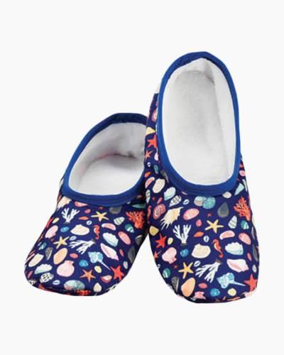 Women's Blue Shells Skinnies Foot Coverings