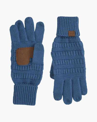 Knit Tech Gloves in Blue