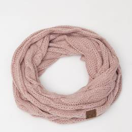 C.C. Knit Infinity Scarf in Rose