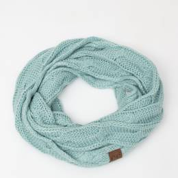C.C. Knit Infinity Scarf in Mint