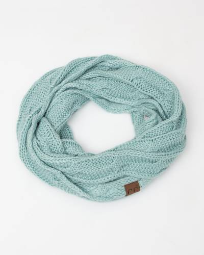 Knit Infinity Scarf in Mint