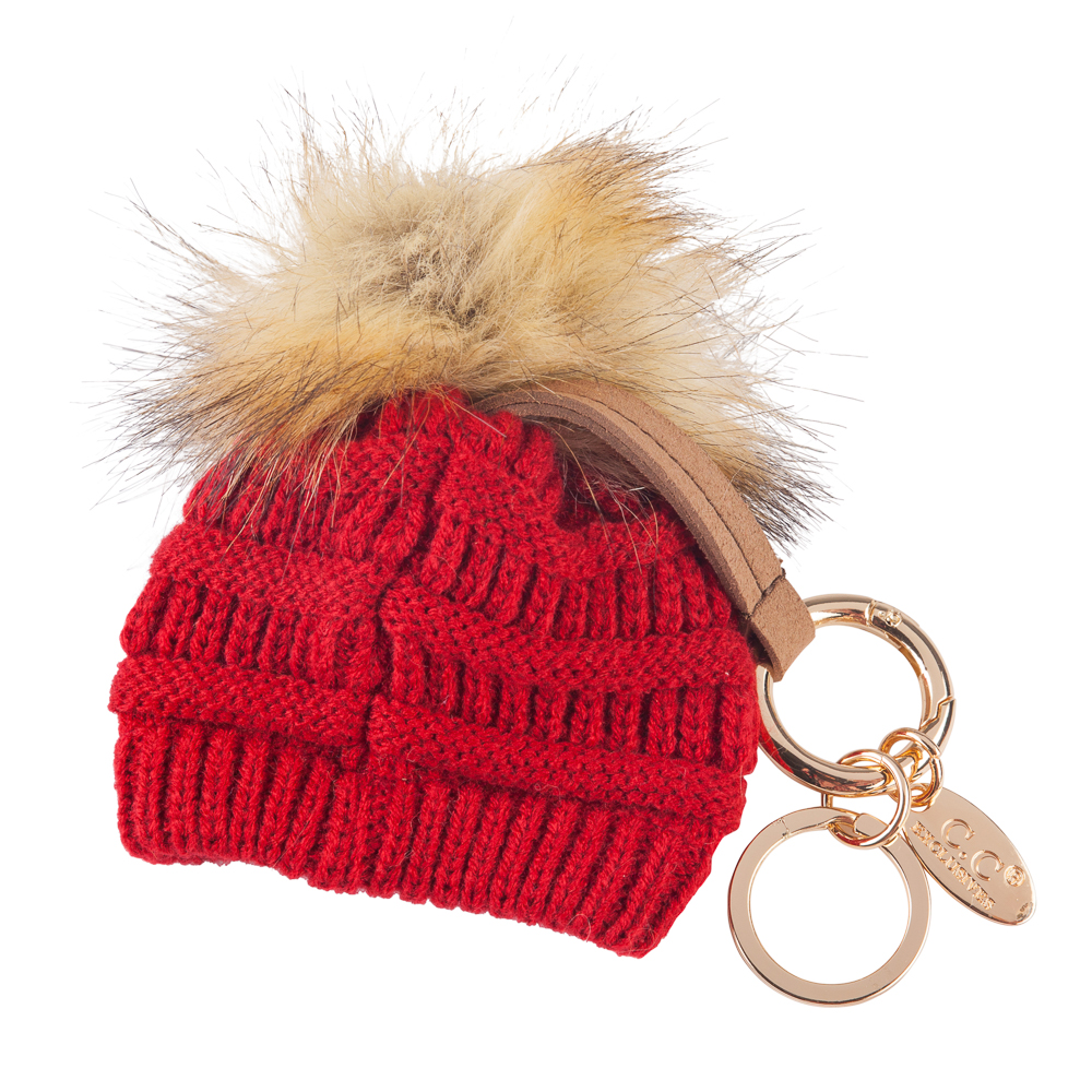 C.C Mini Winter Hat Keychain