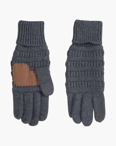 Knit Tech Gloves in Grey