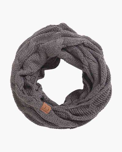Knit Infinity Scarf in Grey