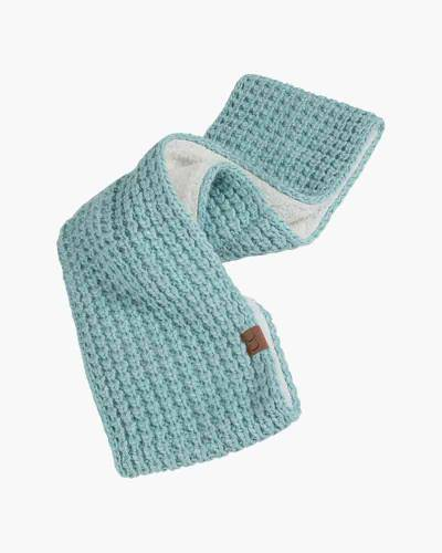 Faux Sherpa Chunky Knit Infinity Scarf in Mint
