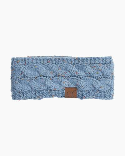 Confetti Knit Headband in Denim Blue
