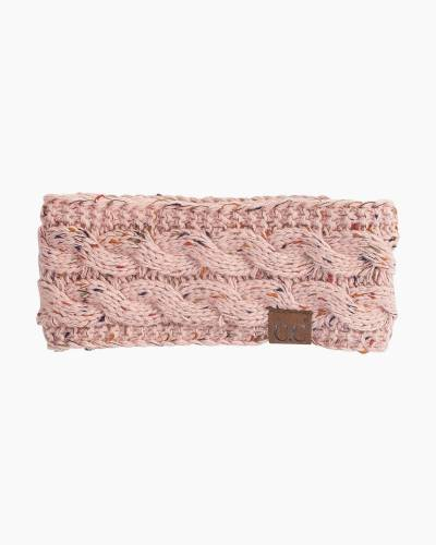 Confetti Knit Headband in Pink