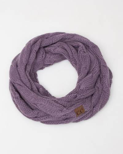Knit Infinity Scarf in Violet