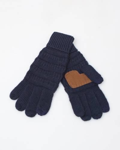 Knit Tech Gloves in Navy