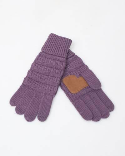 Knit Tech Gloves in Violet