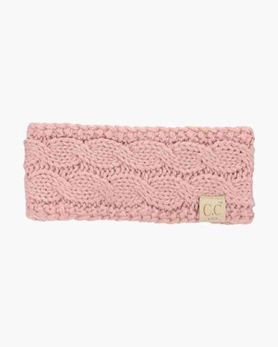 Kids Cable Knit Headband in Indi Pink