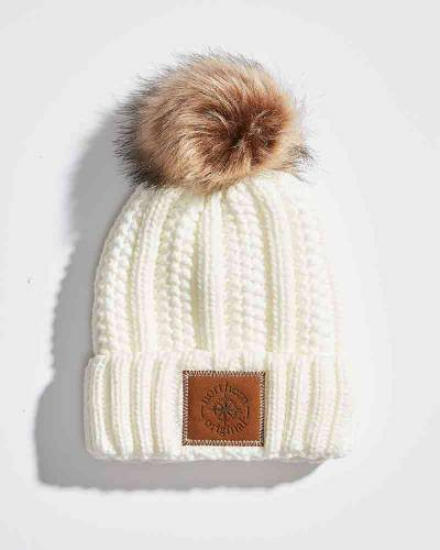 Exclusive Sherpa Pom Hat in Ivory