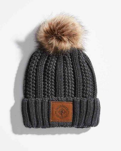 Exclusive Sherpa Pom Hat in Grey