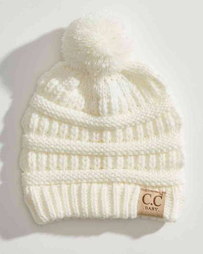 Infant Pom Pom Knit Beanie