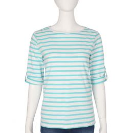 Complements Button-Sleeve Striped Top