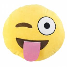 Top Trenz Wink Smiley Emoji Pillow