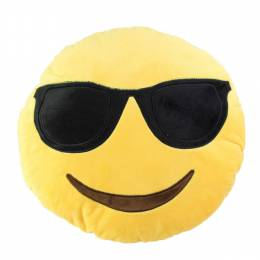 Top Trenz Sunglasses Smiley Emoji Pillow