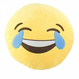 Top Trenz Smiley Face with Tear Drops Emoji Pillow