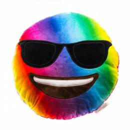 Top Trenz Tie-Dye Sunglasses Smiley Emoji Pillow