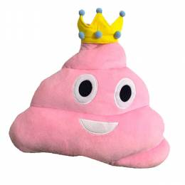 Top Trenz Princess Poop Emoji Pillow
