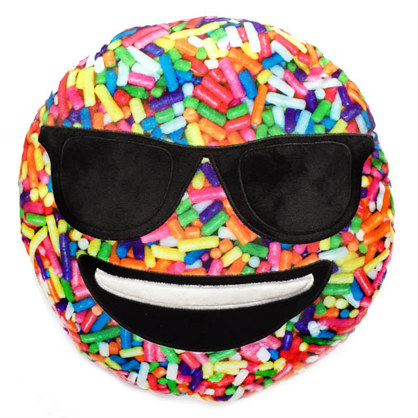 Top Trenz Sprinkle Print Scented Sunglasses Smiley Emoji Pillow