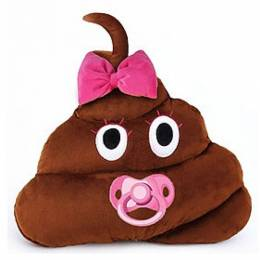 Emojicon Baby Girl Poop Smiley Emoji Pillow